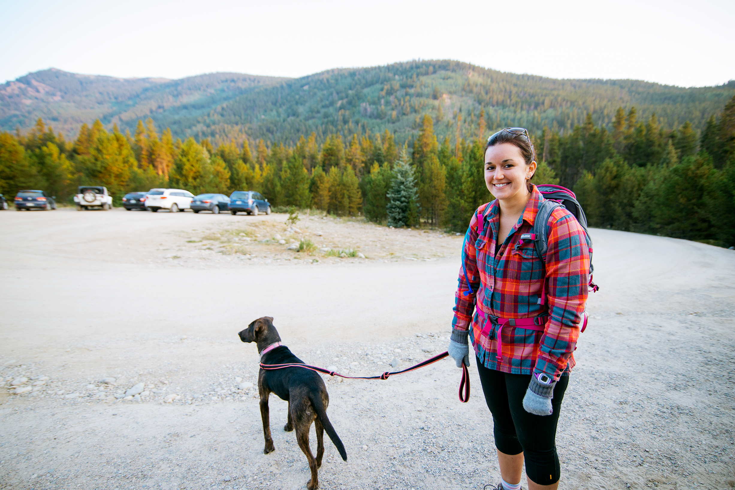 Friend and Puppy at Mount Elbert Trailhead