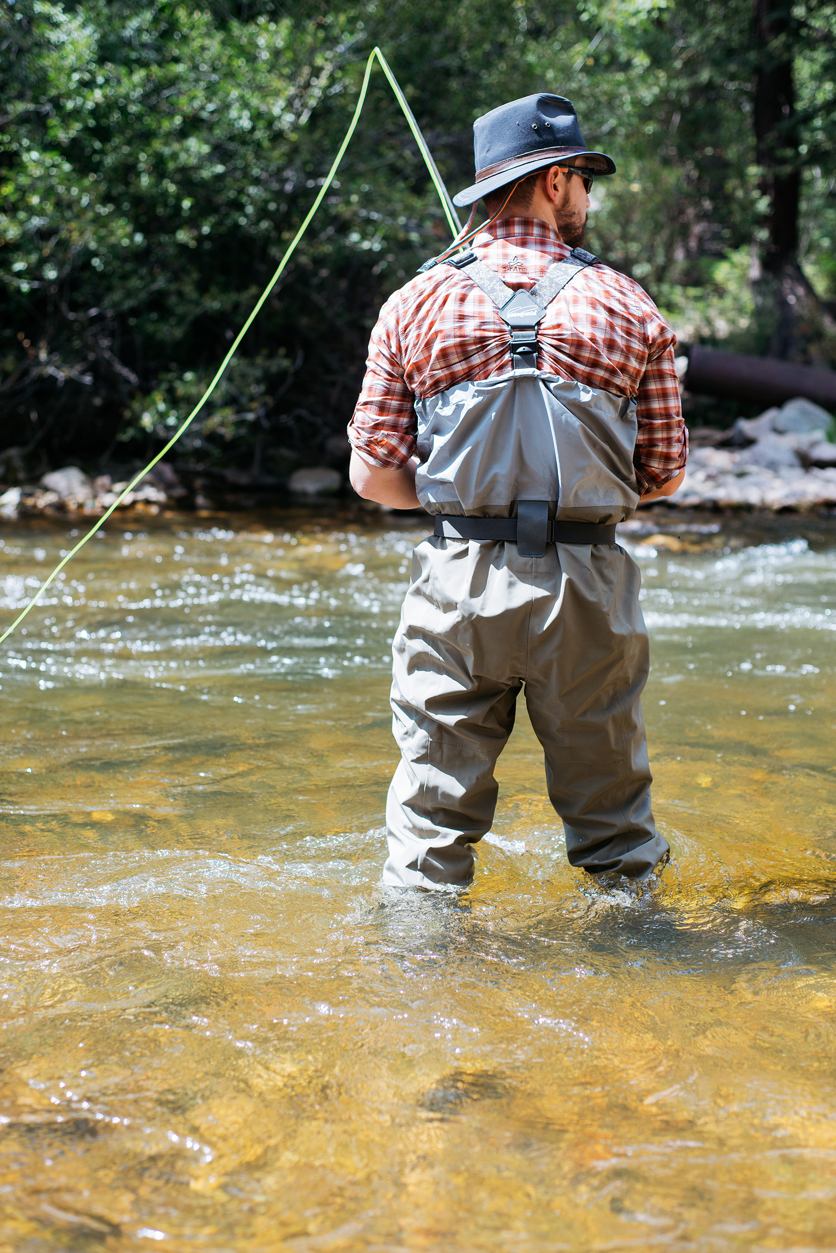Fly Fisherman in South Boulder Creek
