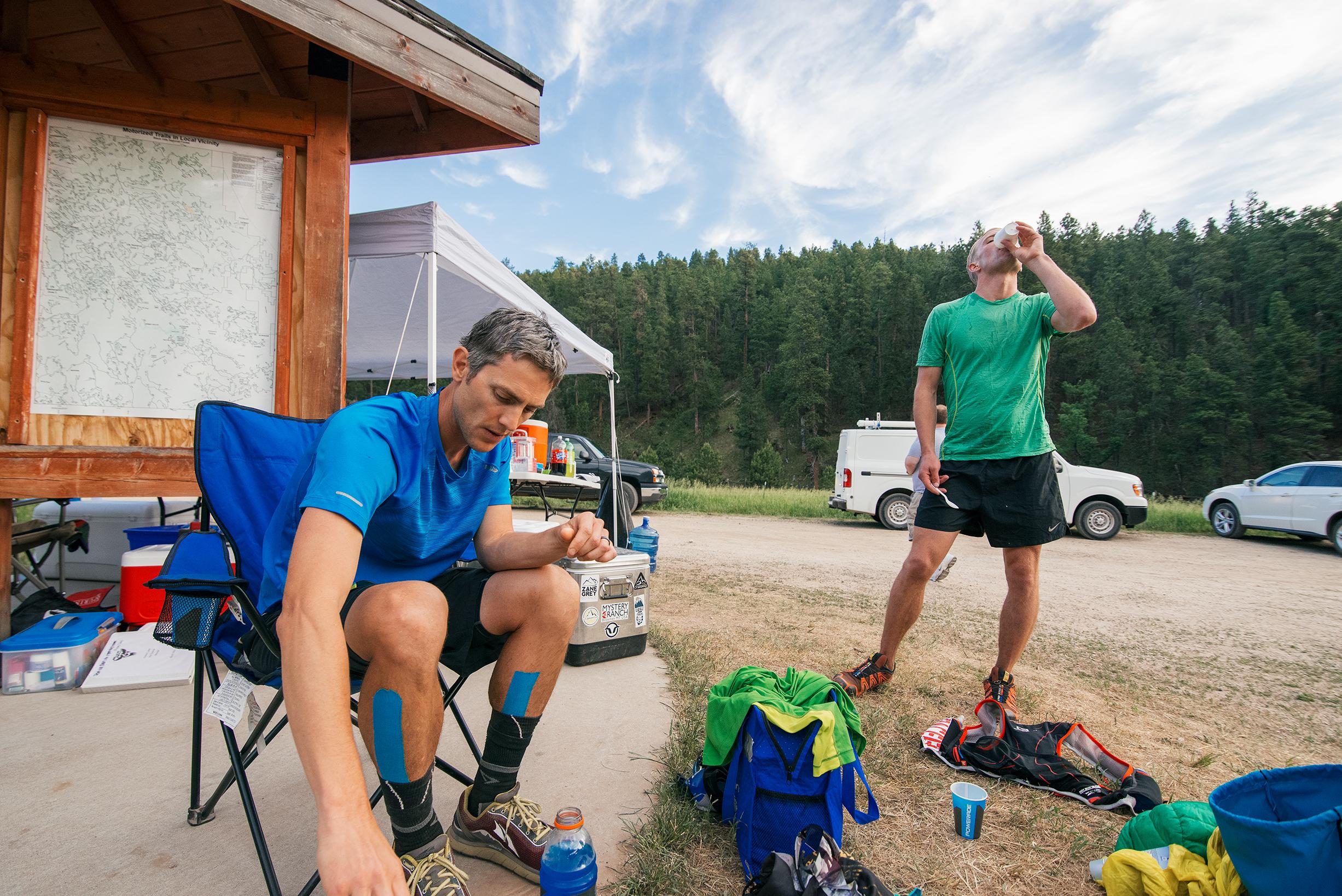Black Hills 100 Ultra Marathon Aid Station