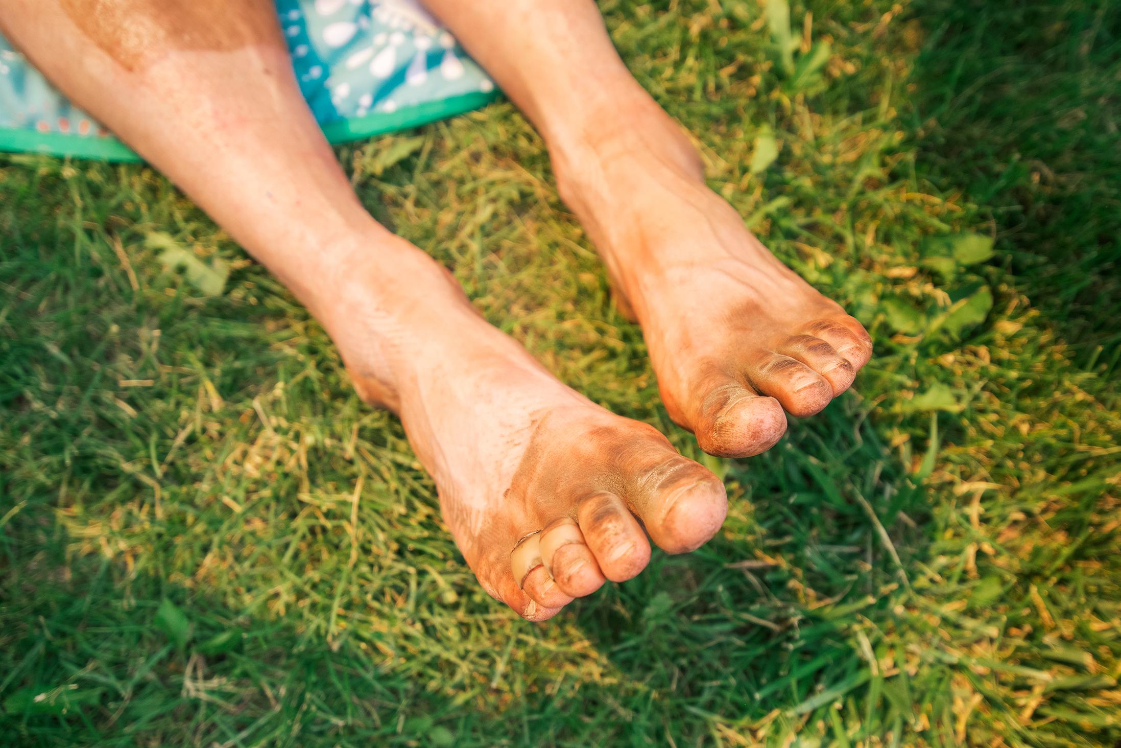 Feet Of An Ultra Marathon Runner