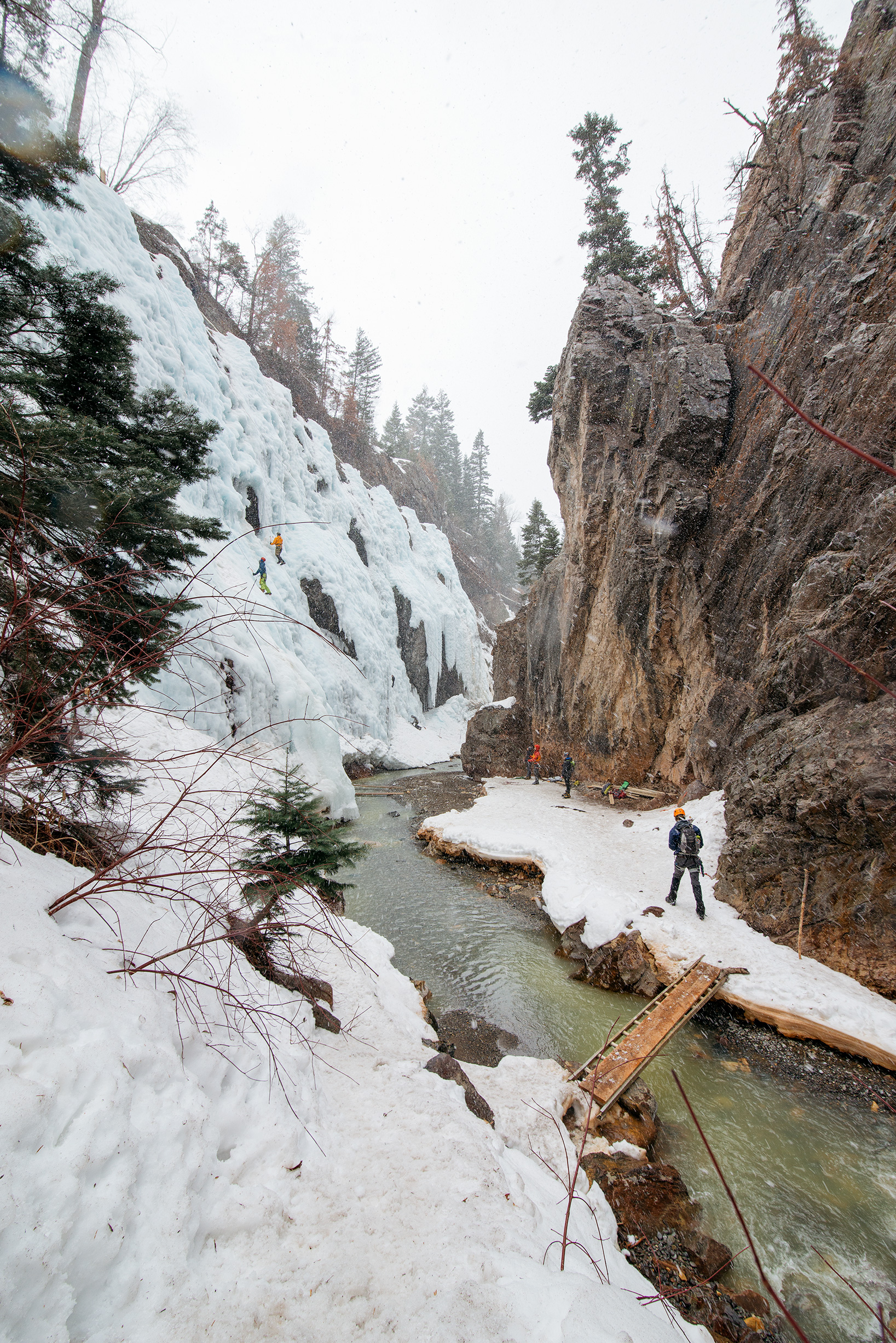 Snow In Ouray Ice Park