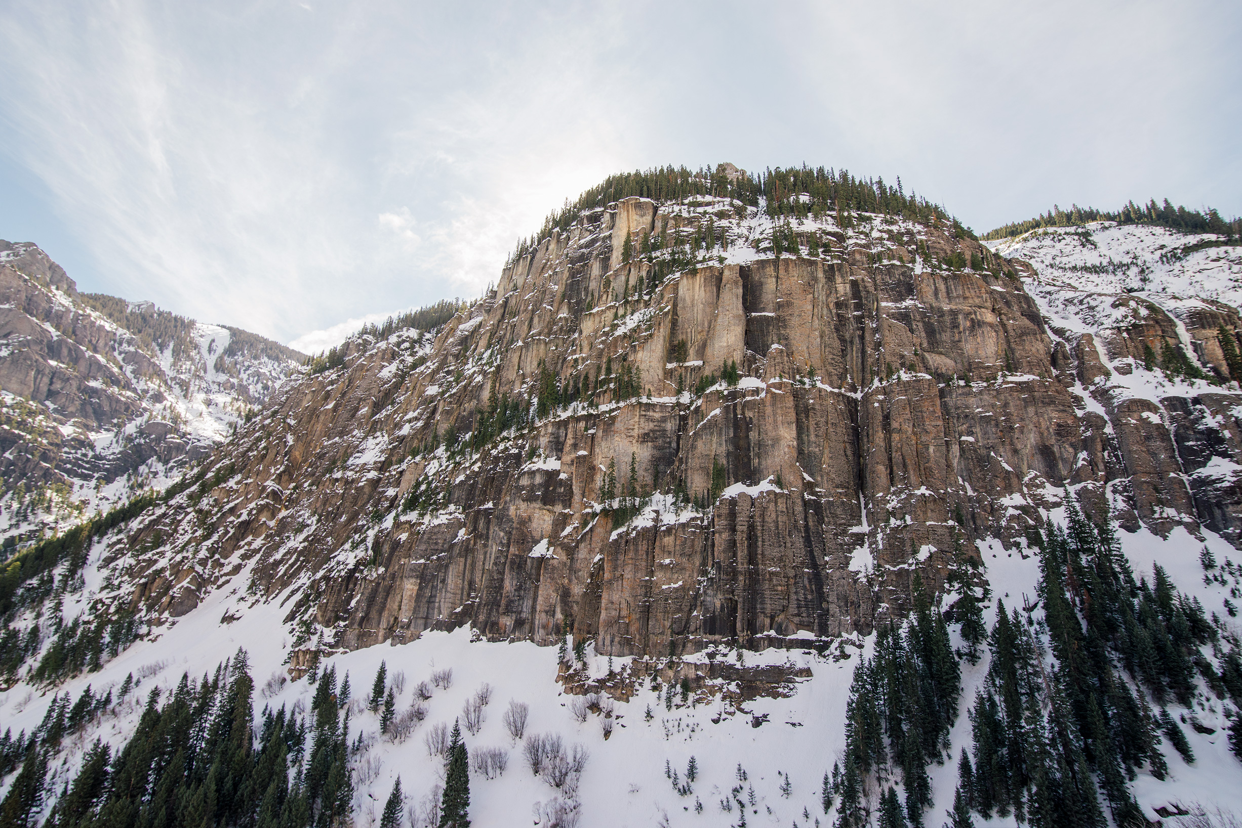 Cliffs in Ouray, Colorado