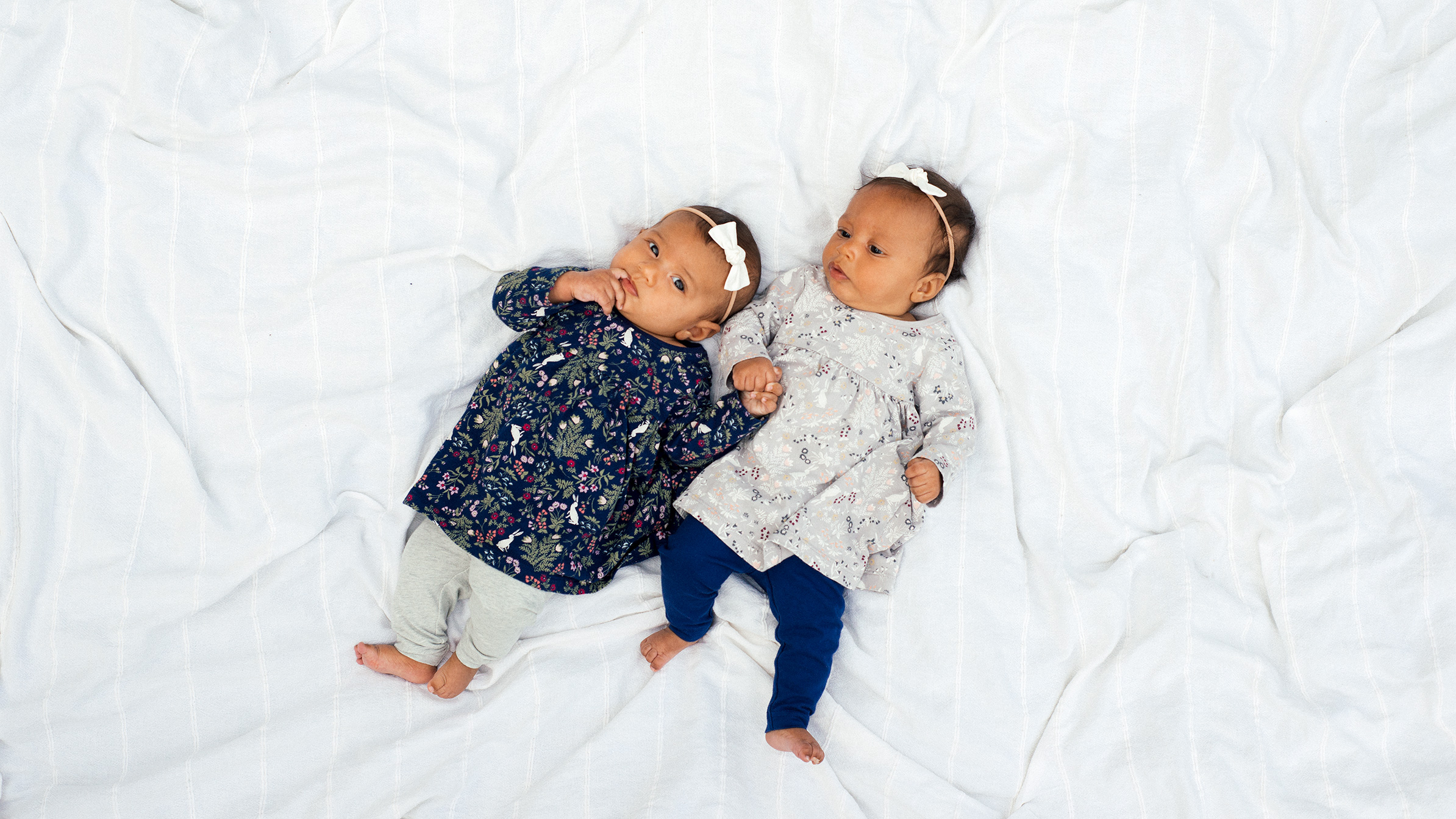 Twin Baby Girls - Infant Photography