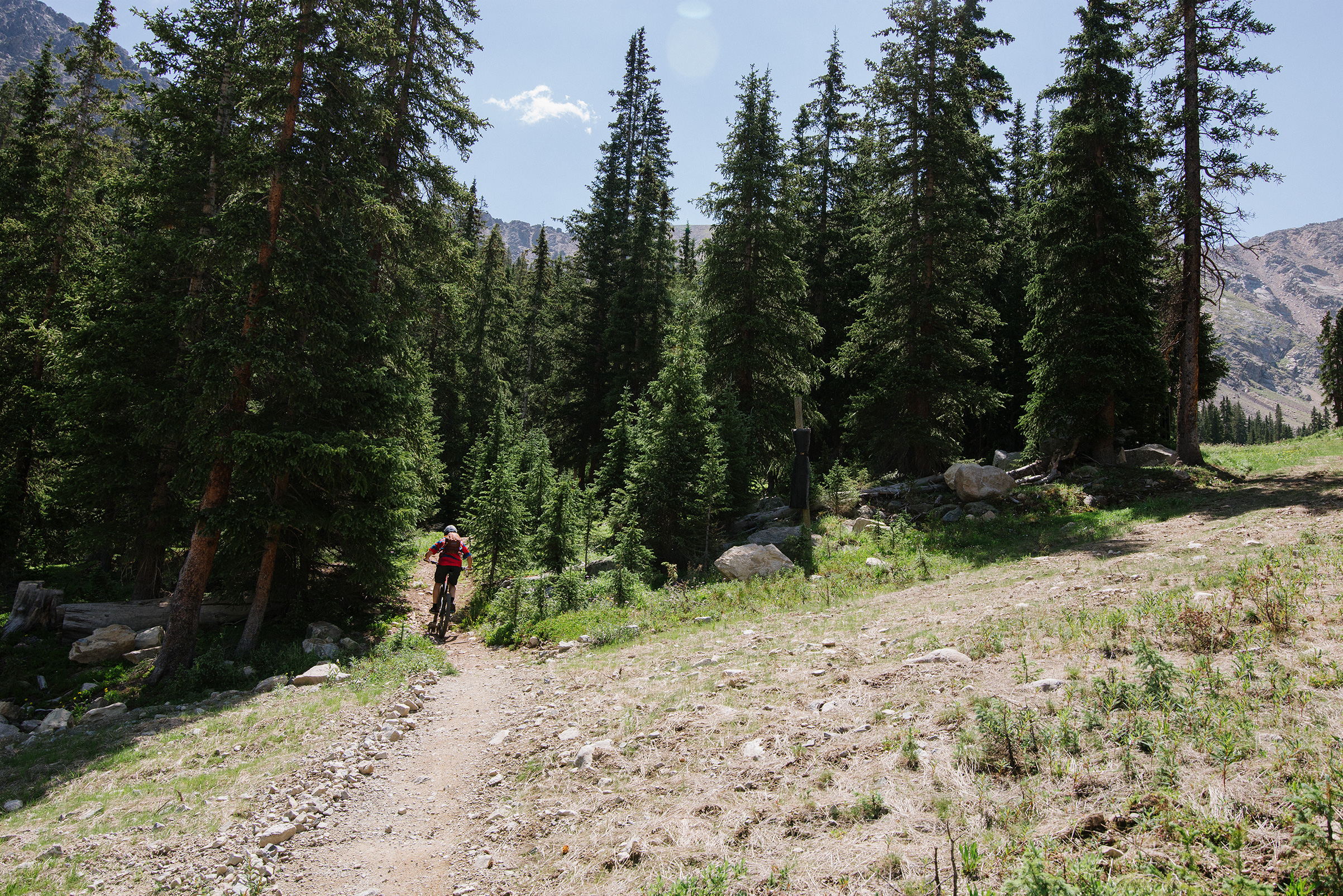 Mountain Biker at Arapahoe Basin