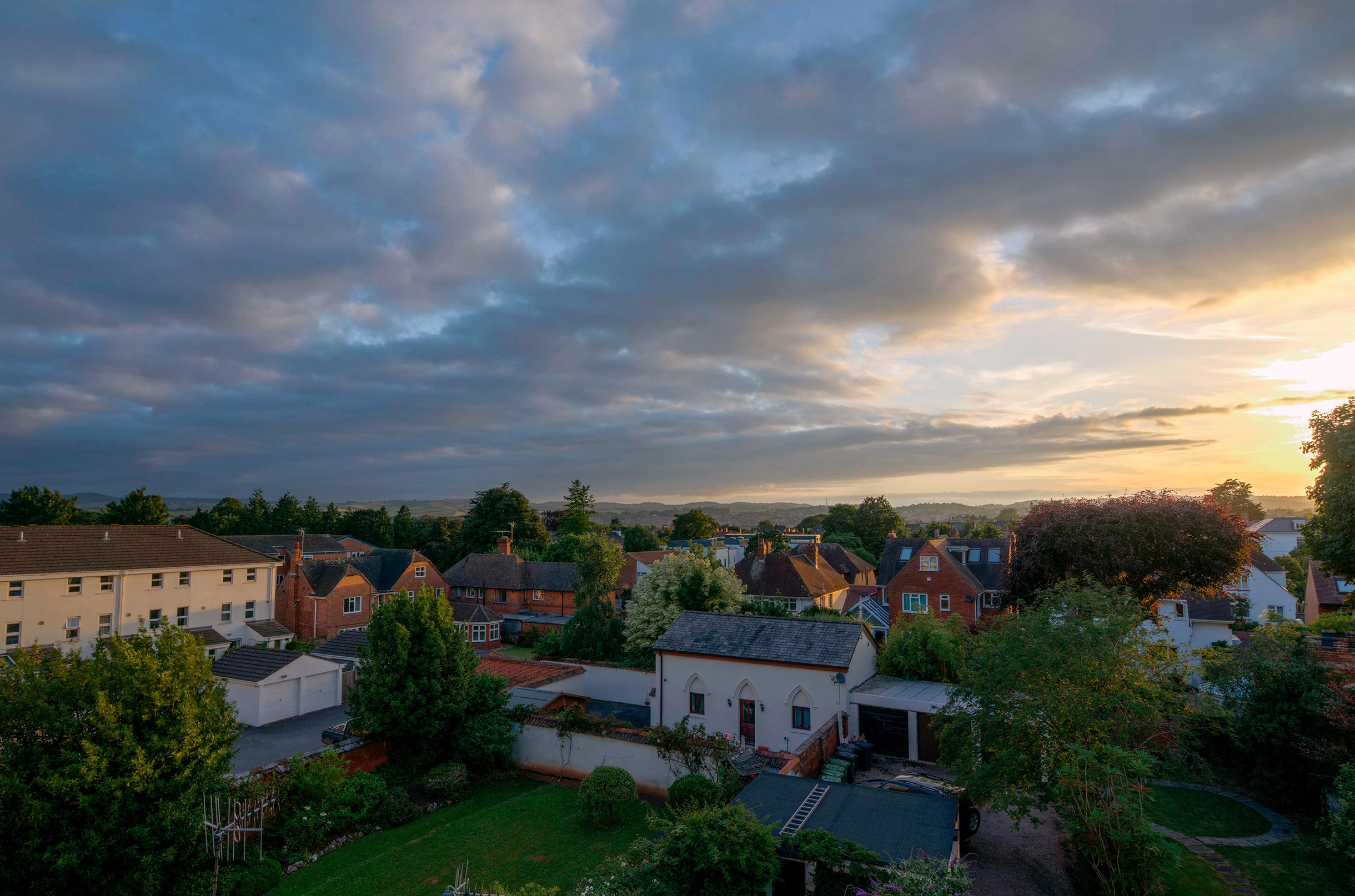Exeter, UK At Sunset