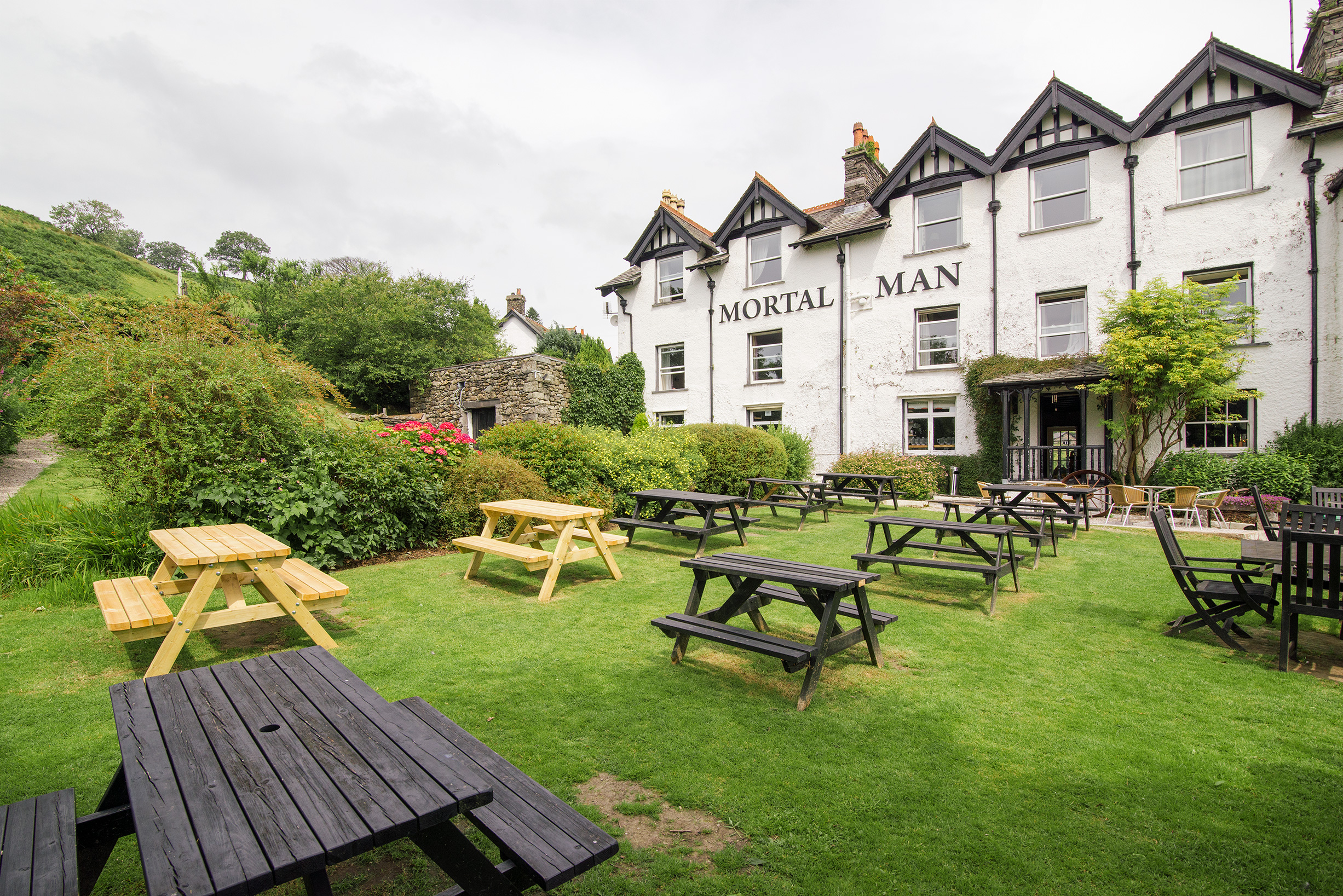 The Mortal Man Pub in Troutbeck, Lake District, United Kingdom