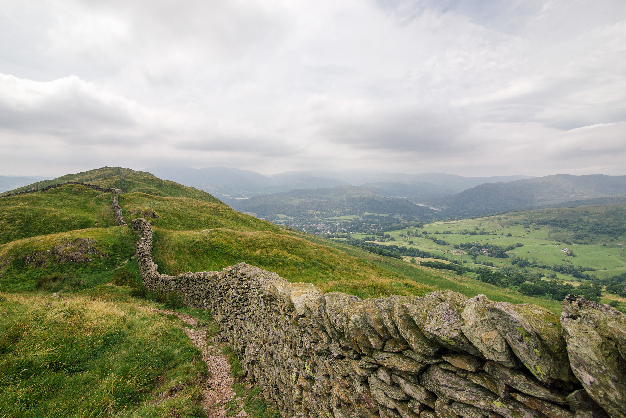 Fellwalking in the Lake District, United Kingdom