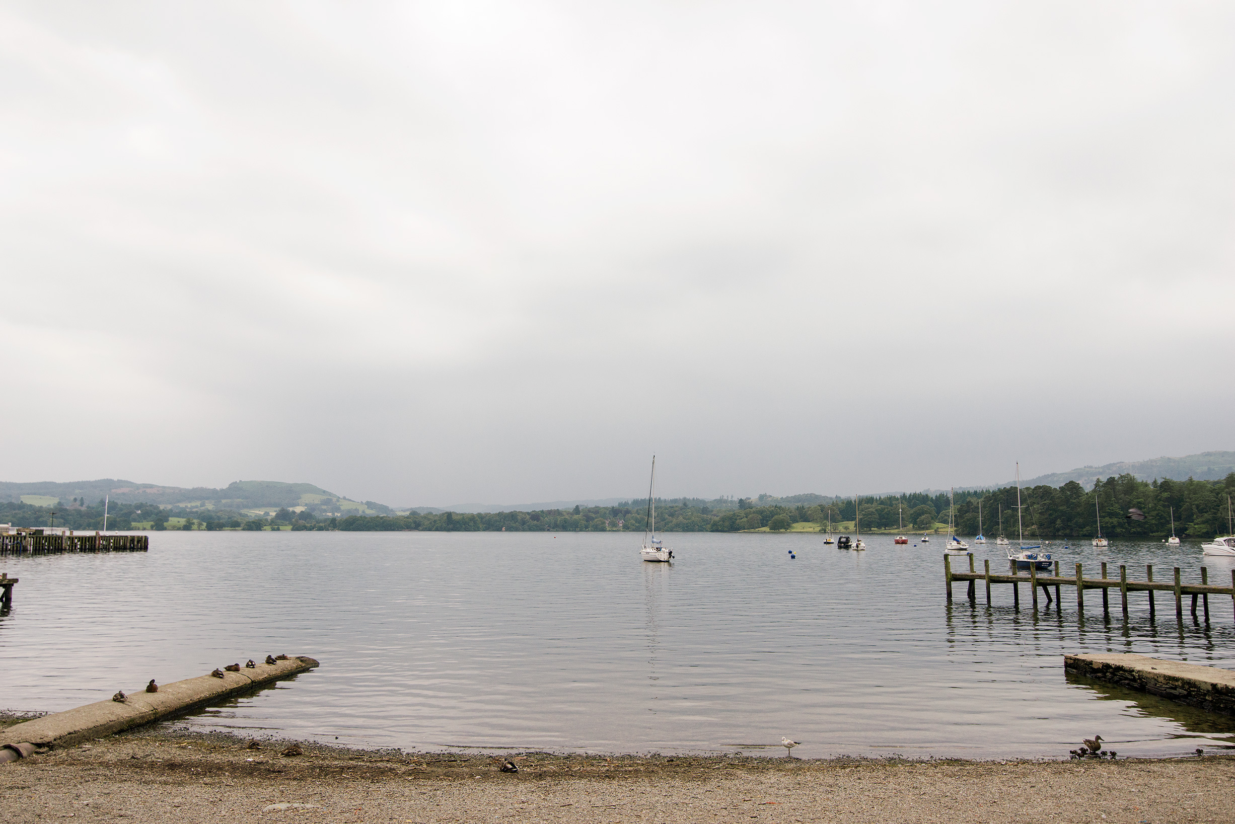 Windermere Lake in Ambleside, Lake District, United Kingdom