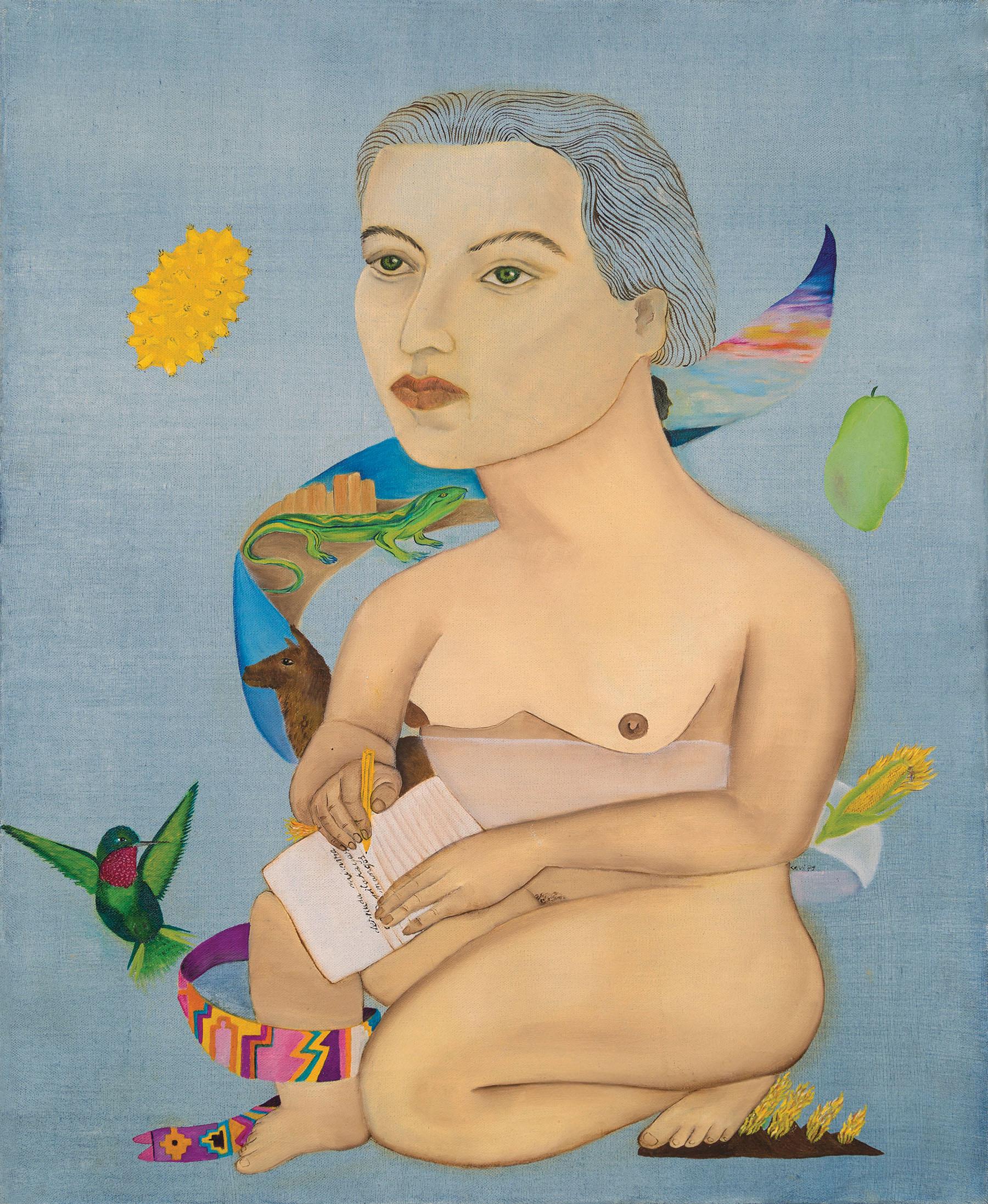 Gabriela Mistral, Óleo sobre tela, Cecilia Vicuña, 1979