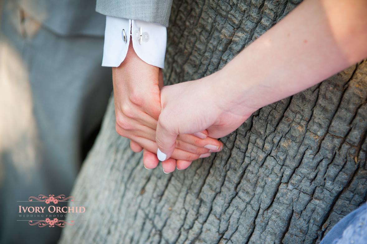 Bride & Groom holding hands