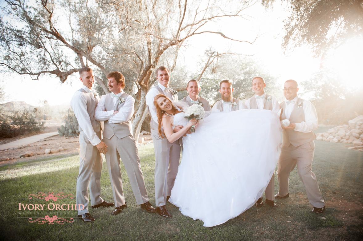 groomsmen with bride
