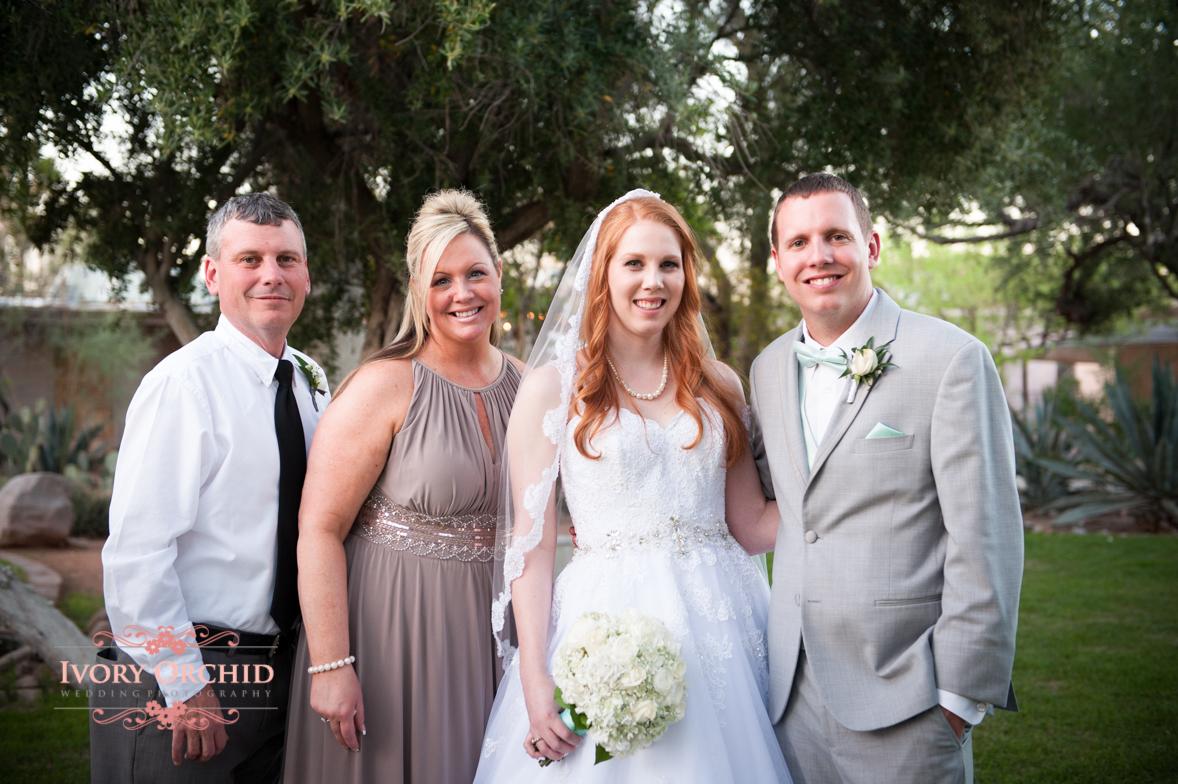 family photos at wedding
