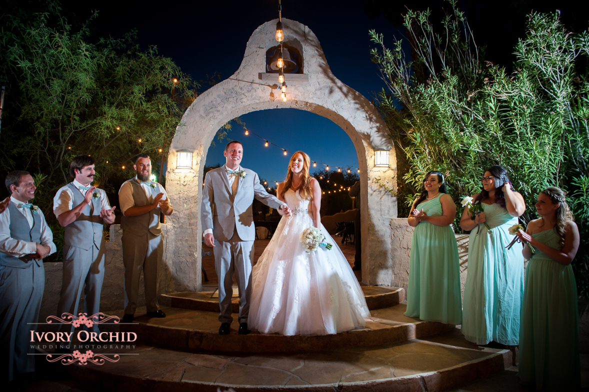 entrance to the wedding reception at wild horse ranch