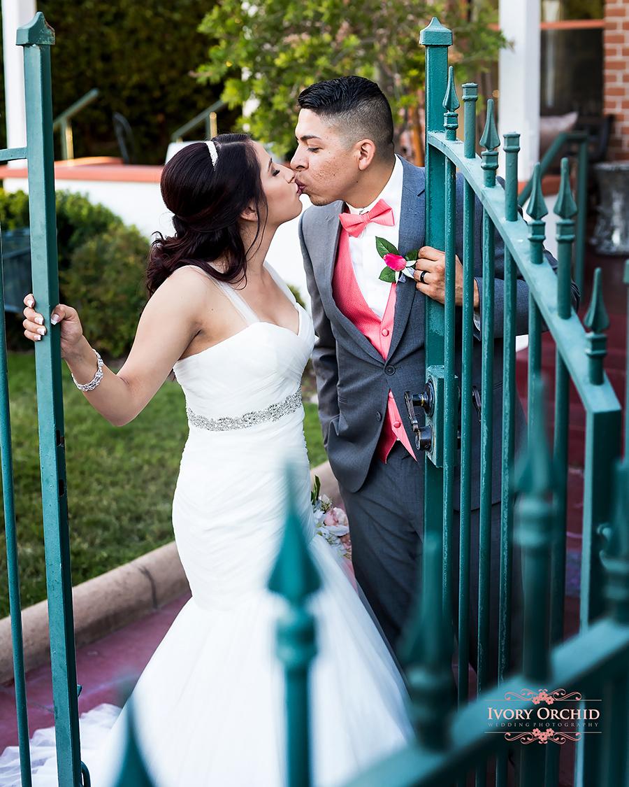 Garden Gate wedding photo