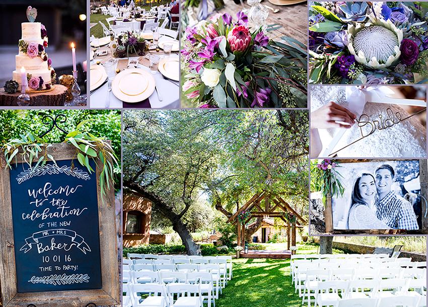 Wedding details at Rancho Robles