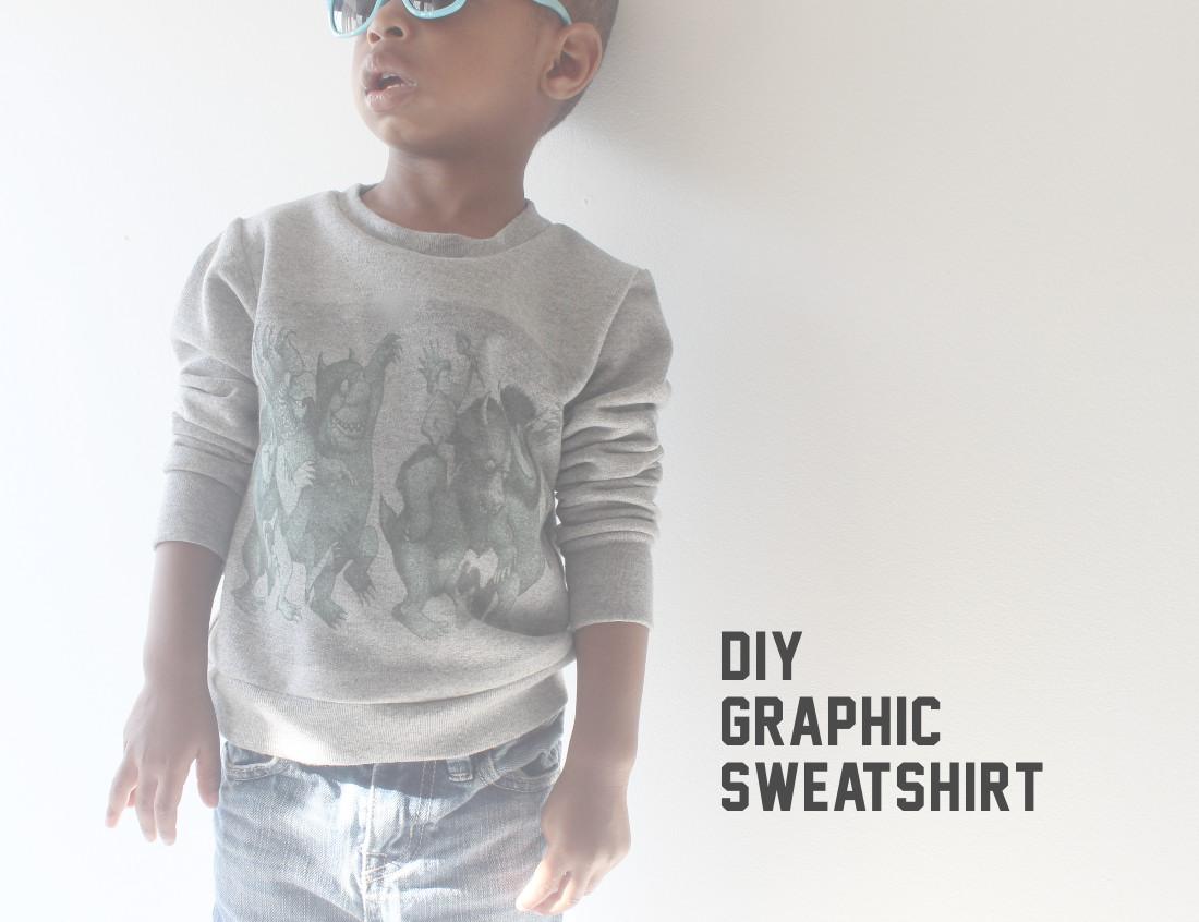 graphic sweatshirt by mingo and grace