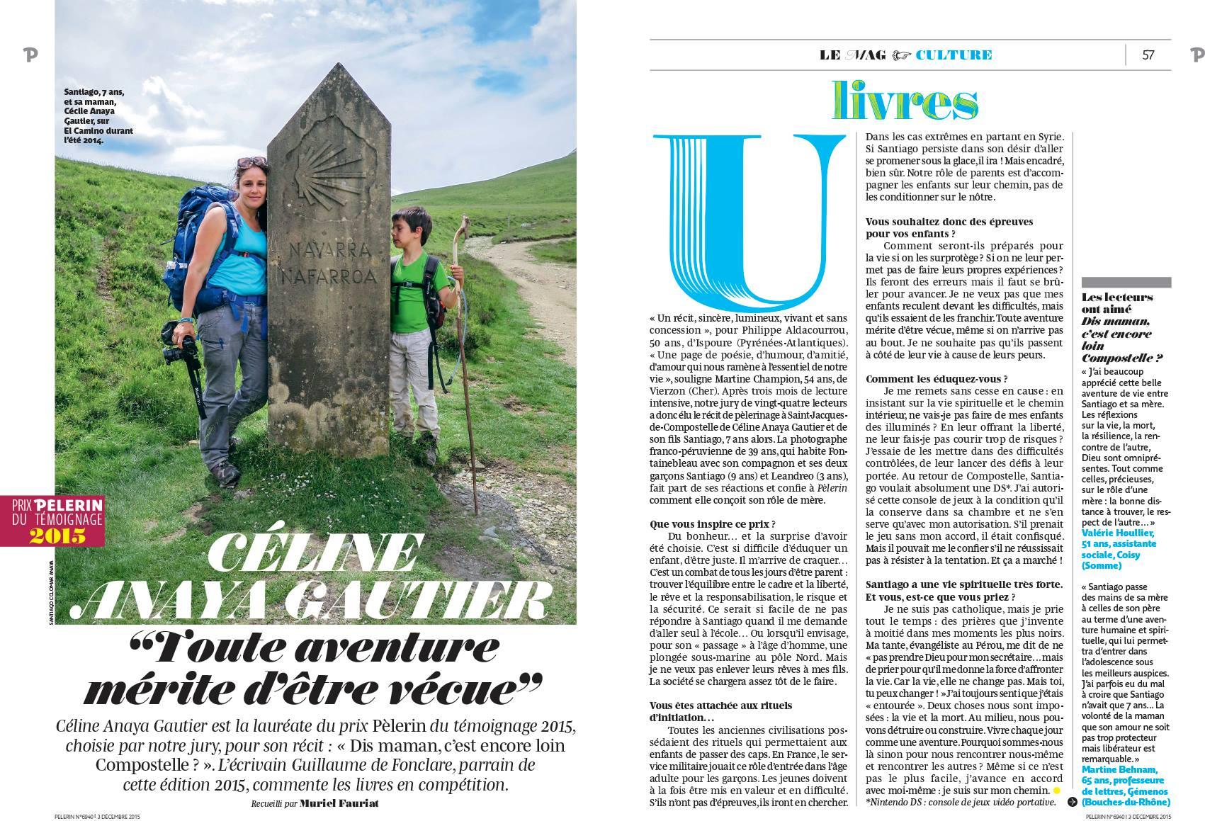 Pèlerin Magazine - Prix du Témoignage