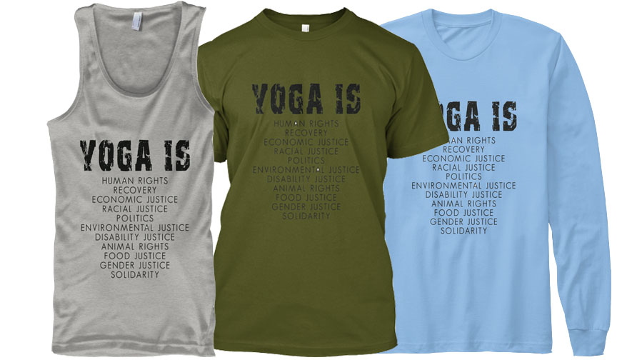 YOGA IS tank-top and t-shirt design - available until May 1th