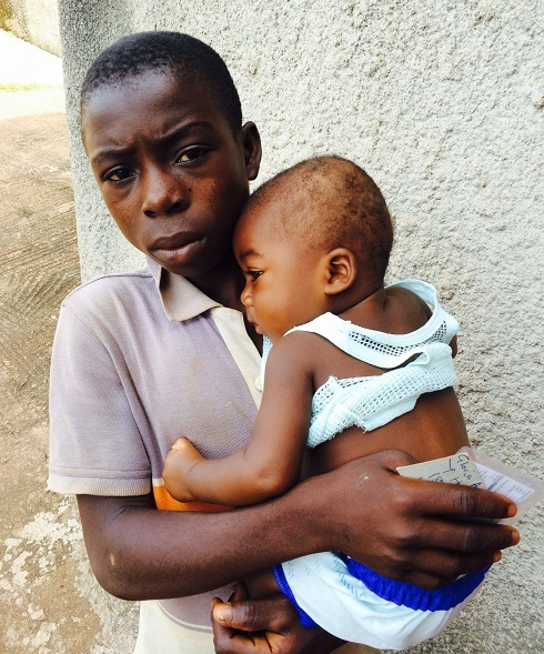 This young man brought his little brother to us with pneumonia, malaria, and a painful ear infection. Pneumonia and malaria are the two most common causes of childhood mortality in Ghana. This concerned big brother knew such a sick baby needed help.