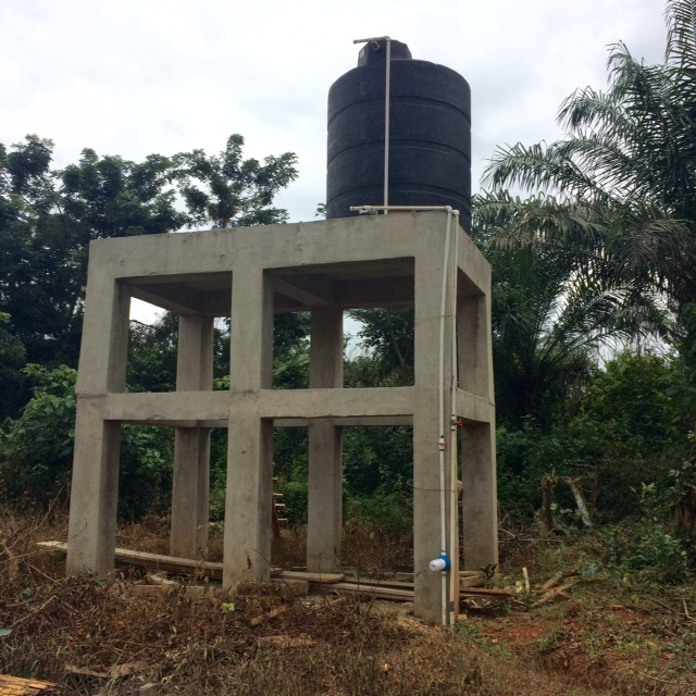 Water towers like this, can hold four tanks, and help bring water to an entire village, rather than just the clinic.  Unto the Least of His is providing the expanded tower and tanks for Kordjour.