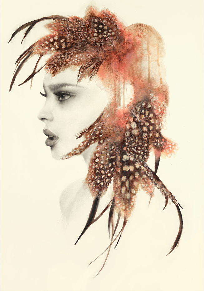 Athena  Charcoal and Ink Print on 350gsm Fine Art Paper SALE - £160