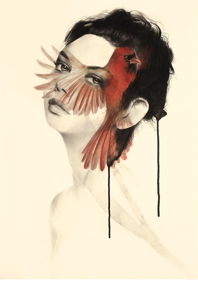 Iduna  Charcoal and Ink Print on 350gsm Fine Art Paper SALE - £160