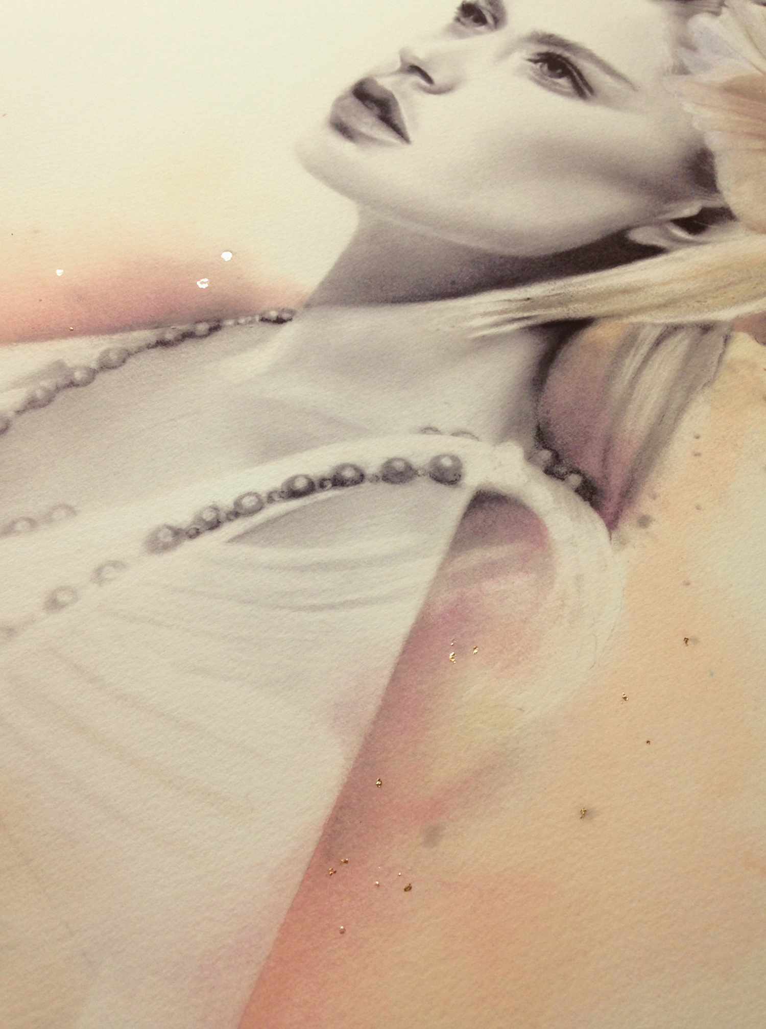 Large print - Detail of gold leaf