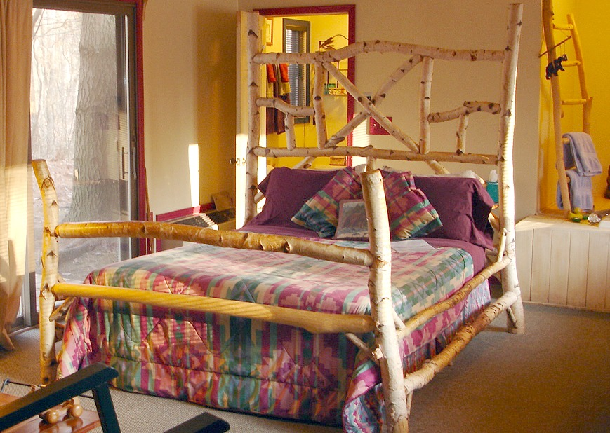 Birch Room with locally made Queen sized Birch bedframe