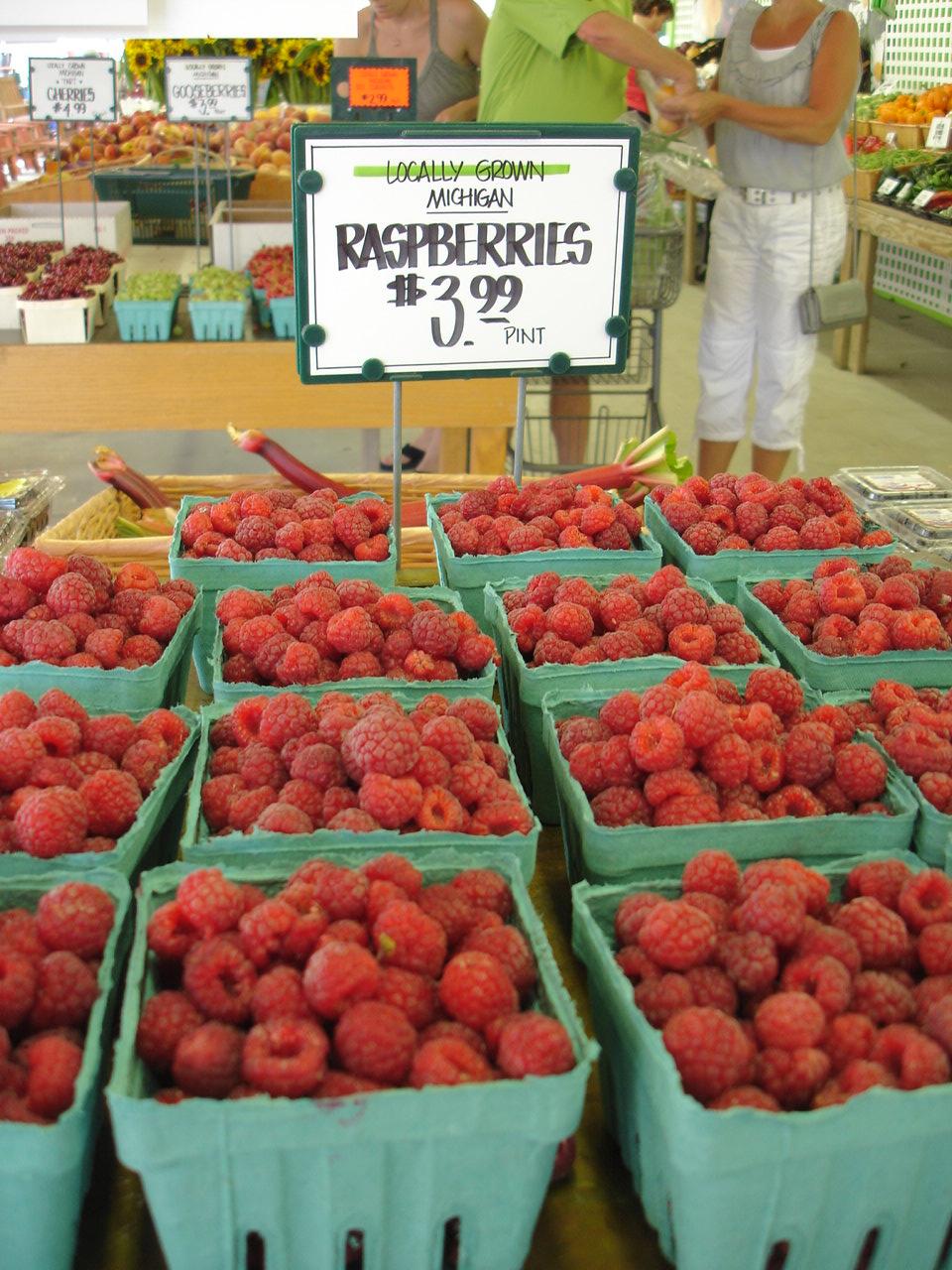Fresh Michigan Raspberries