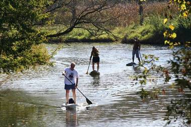 Stand Up Paddleboarding Galien River New Buffalo, MI