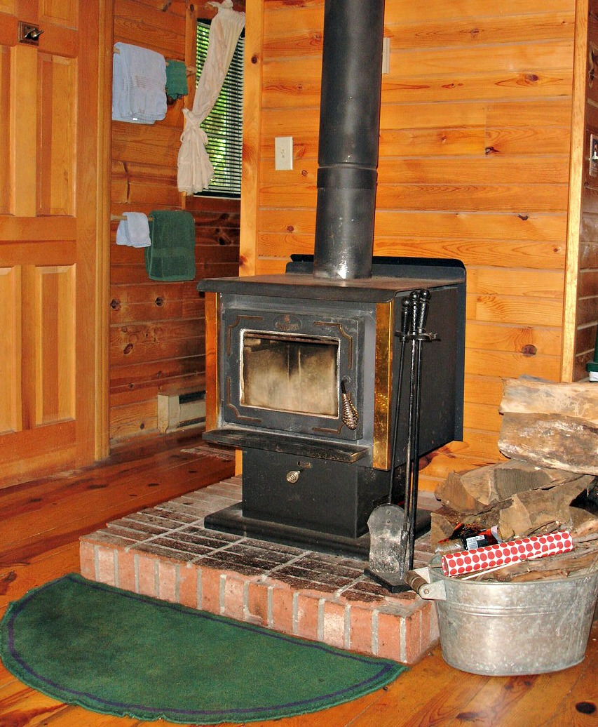 Woodburning Stove in Bill's Cabin