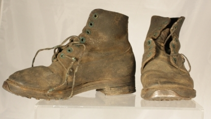 This particular pair of Pershing boots was donated to the La Crosse Historical Society by Howard W. Theil.