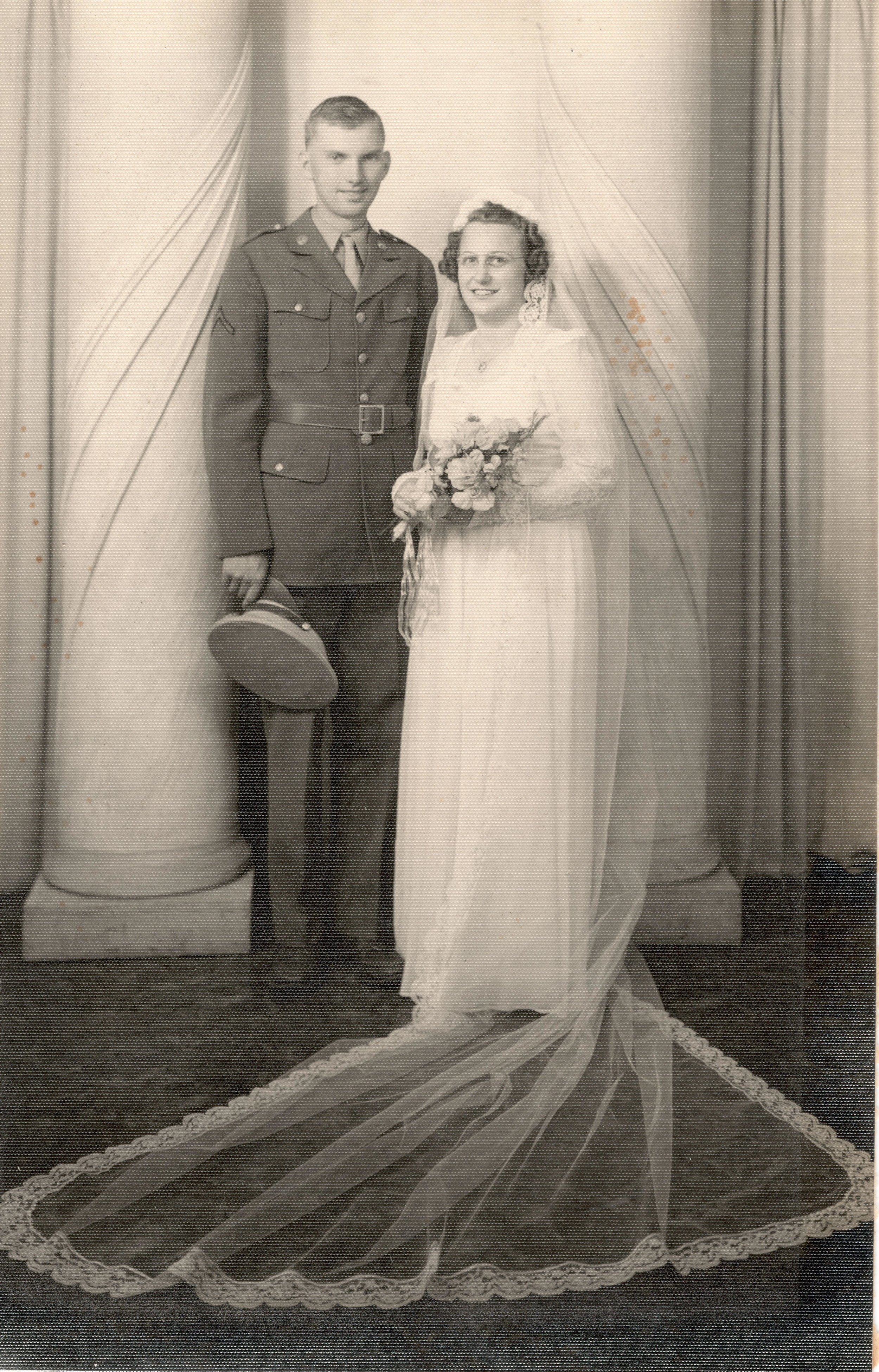 Kermit and Evelyn Brekke on their wedding day, La Crosse County Historical Society