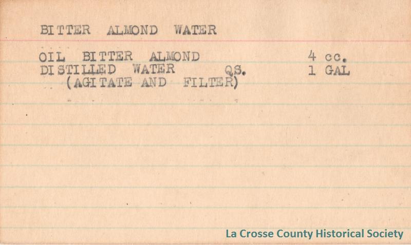 Bitter Almond Water