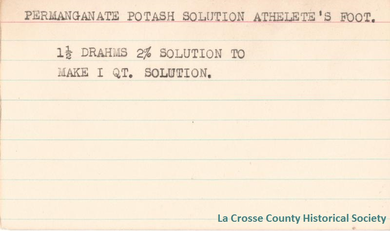 Permanganate Potash Solution Athlete's Foot
