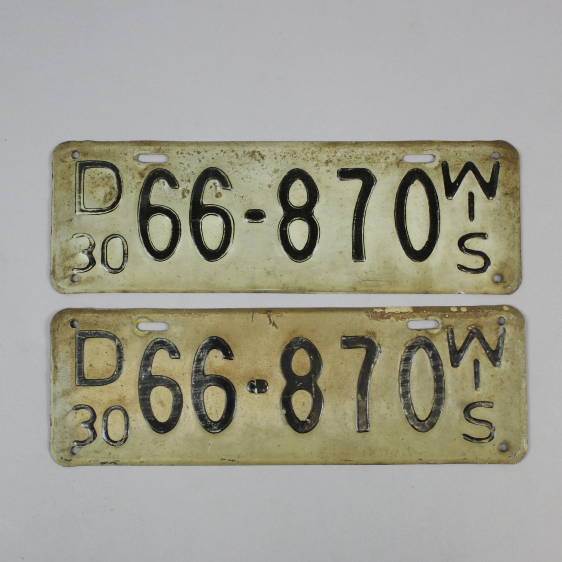 The Evolution of Wisconsin License Plates — La Crosse County
