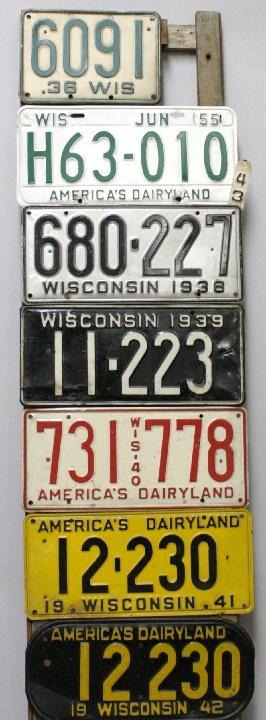The Evolution Of Wisconsin License Plates La Crosse County Historical Society