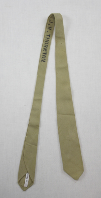 James Thornton's military issue tie-name stamped on the reverse.