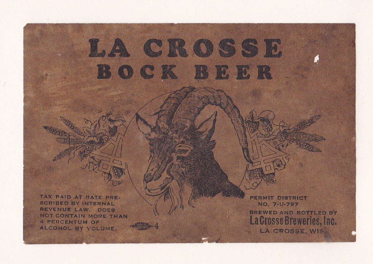 La Crosse Breweries Bock Beer 3.jpg
