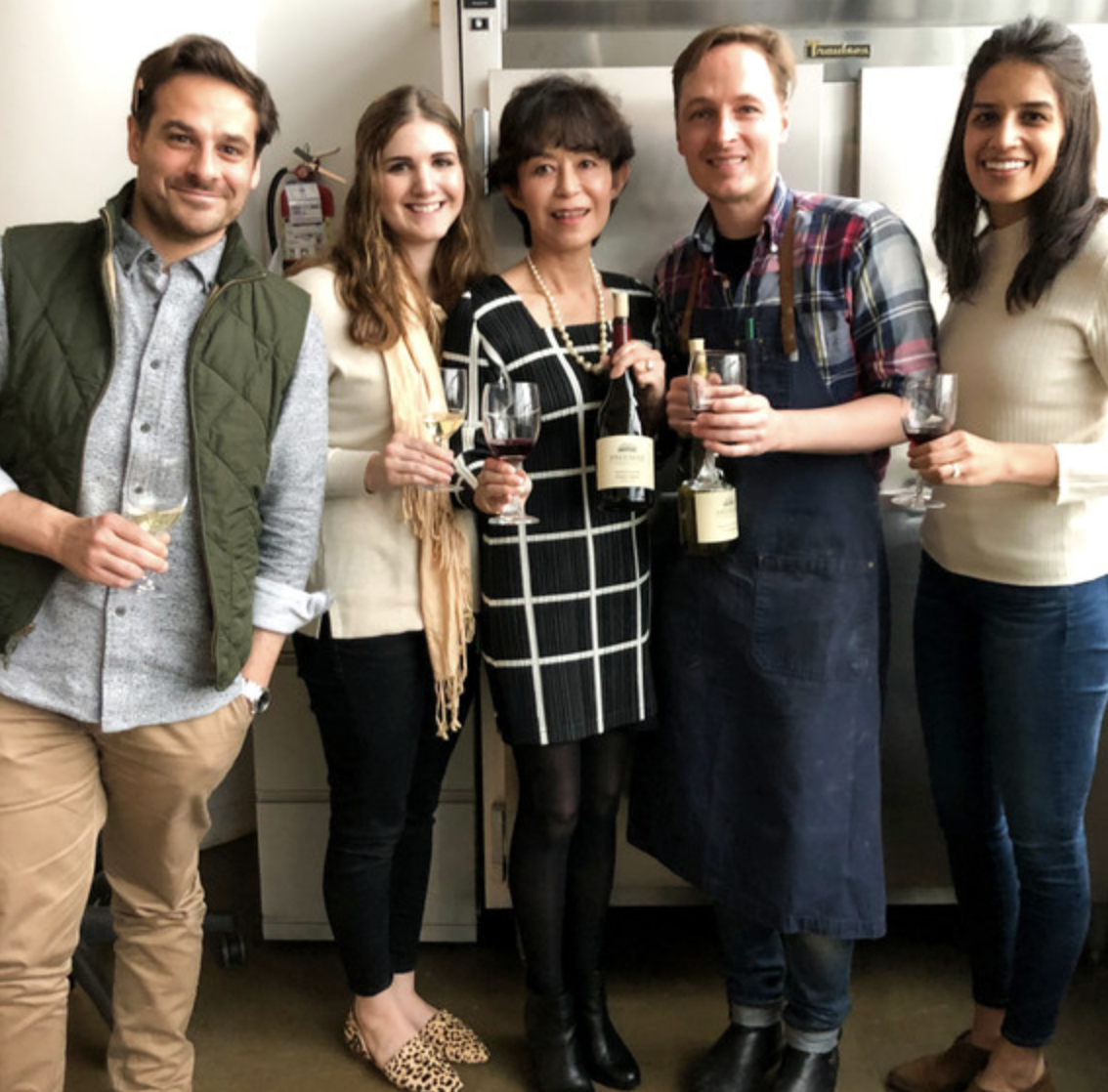 MarthaStewart.com - Akiko Freeman shares her Pinot Noir and Chardonnay wines with food editor Greg Lofts and his team.