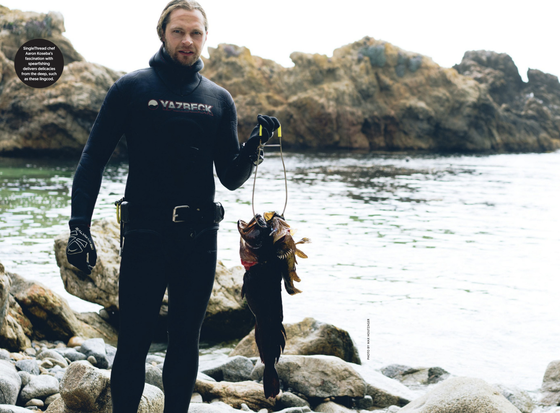 San Francisco Magazine - Koseba's Trident: A passion for spearfishing makes this chef a rare breed