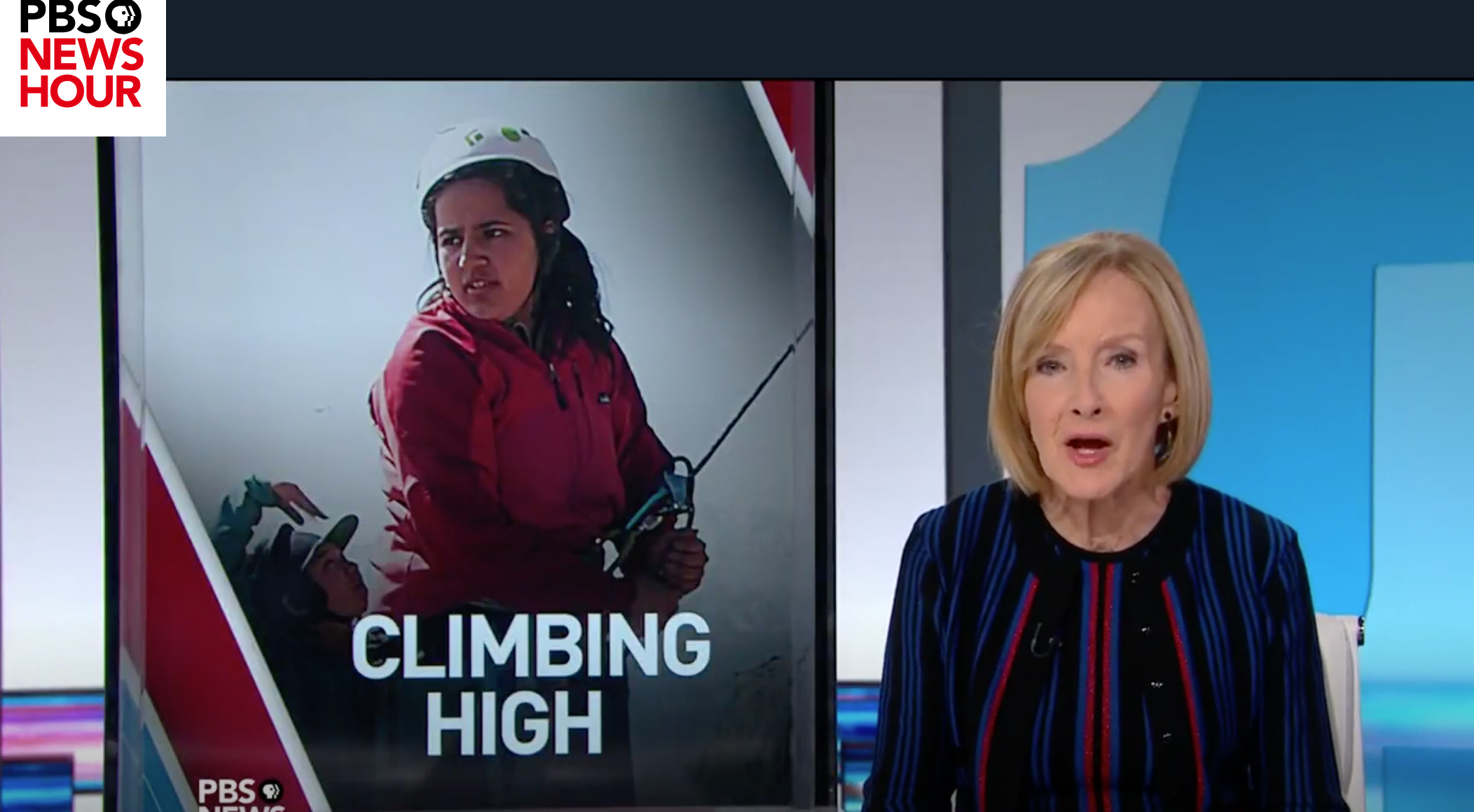 PBS News Hour: Mountain Climbing Afghan Girls Breathe Free