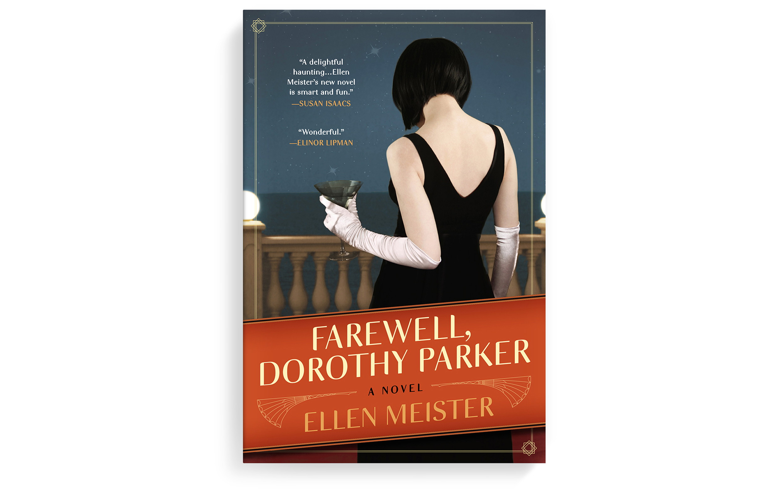 This quirky novel imagines a haunting by Dorothy Parker—one I would very much enjoy.I've tried saying her name three times into the mirror with the lights off, but nothing yet...  Art direction + cover design. Berkley.2013.