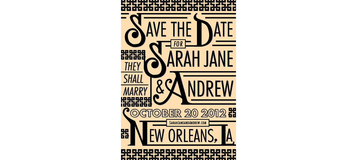 Save the Date | Sarah Jane & Andrew