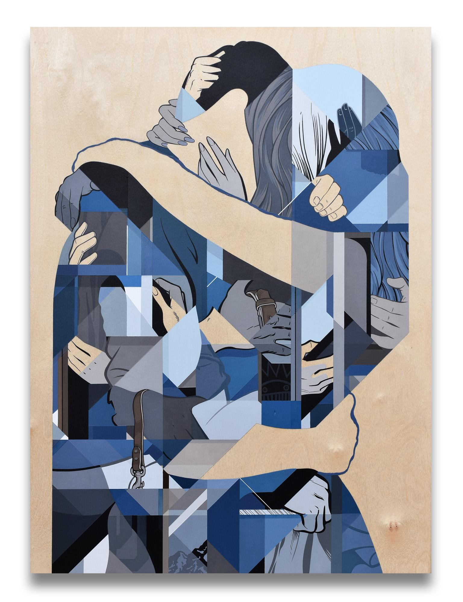 """Summer Skin 2"" 56cm x 76cm (22"" x 30"") Acrylic painting on birch panel."