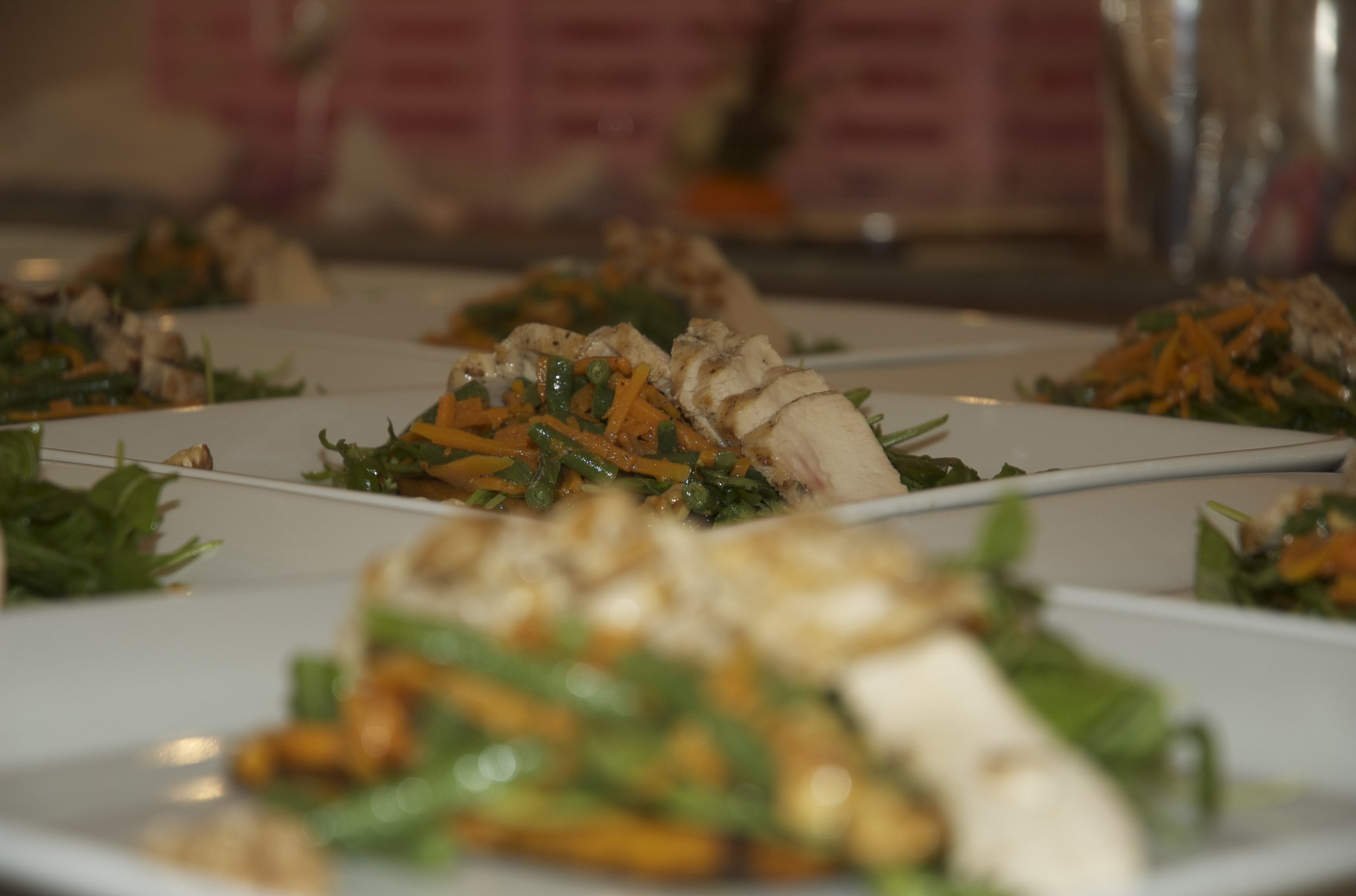 Grilled Chicken with Butternut Squash and Haricot Verts Salad