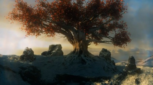 I also had a 0% idea that skeletons would rise from below this tree, resulting in a live-action scene from the game  Everquest.