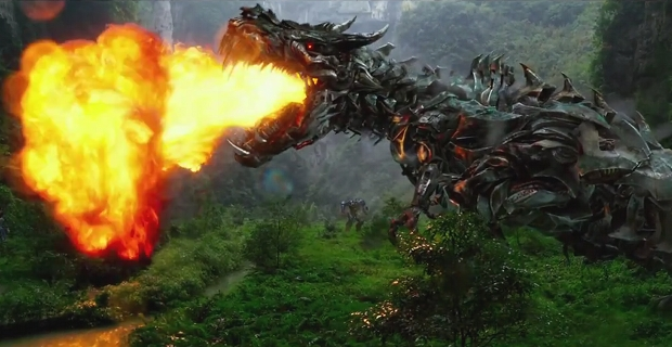 """More of a dragon than a dinosaur, but  """"Fuck it ,"""" says Michael Bay."""
