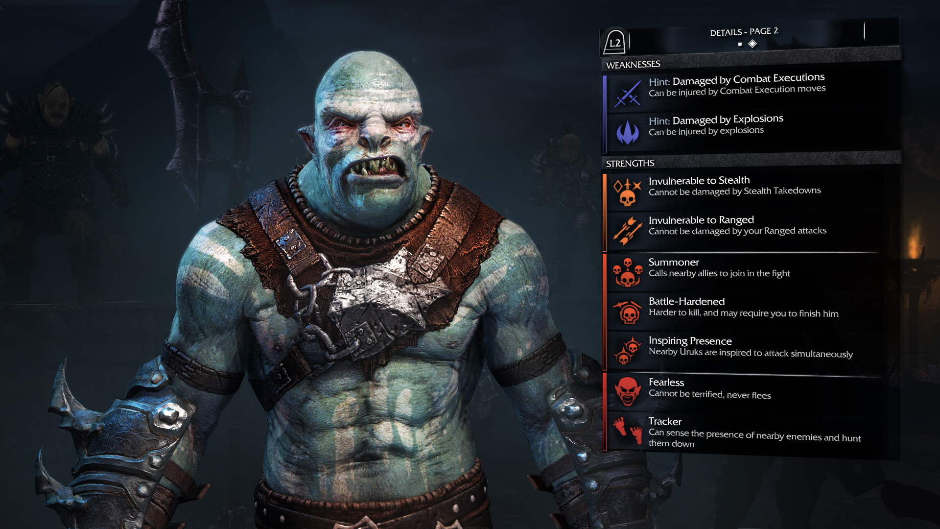 "The game's ""Nemesis"" system generates unique orcs every time the power struggle changes, making each play through of the game different to every player."