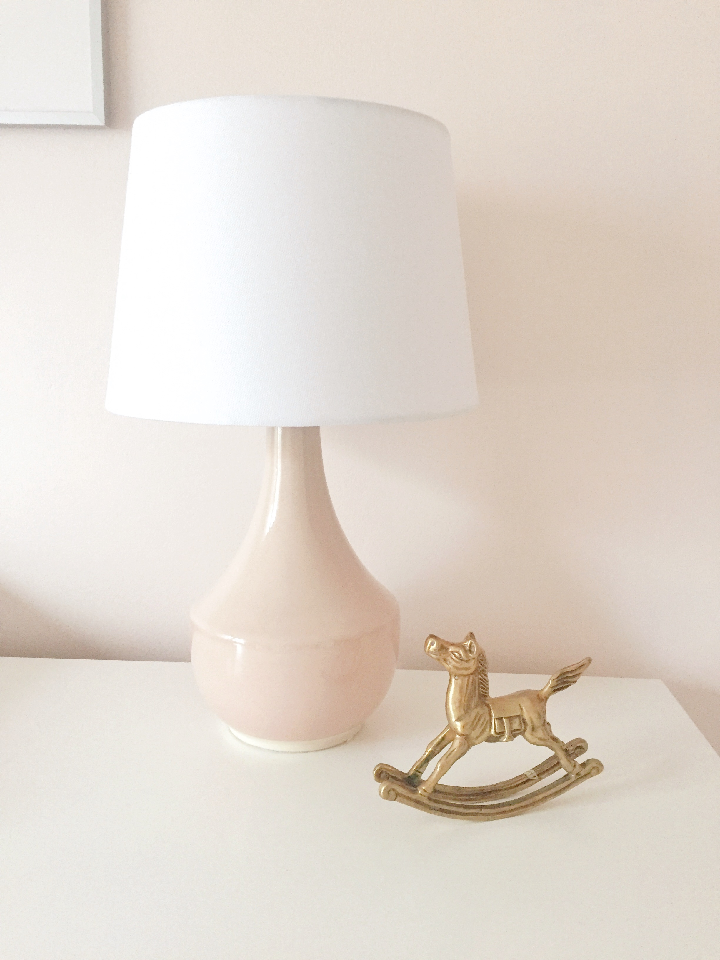 Target Project62 Lamp / Vintage Brass Rocking Horse